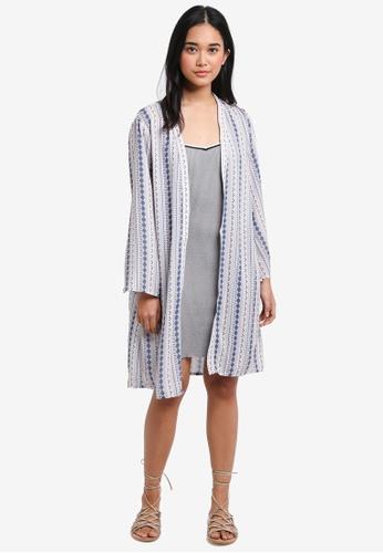 Something Borrowed pink Flare Sleeve Kimono Cardigan B083CAA53DC171GS_1