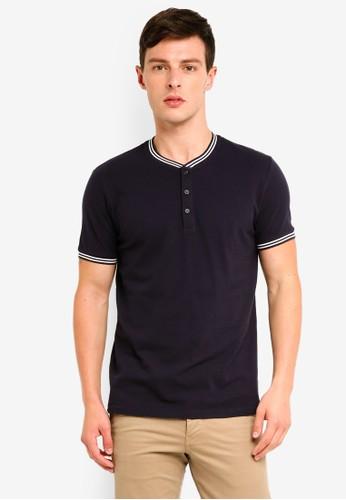 ESPRIT navy Short Sleeve Polo Shirt 54CA0AAB9C687FGS_1