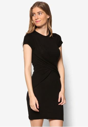 KN Georgiazalora時尚購物網的koumi koumi 垂墜蓋袖連身裙, 服飾, 洋裝