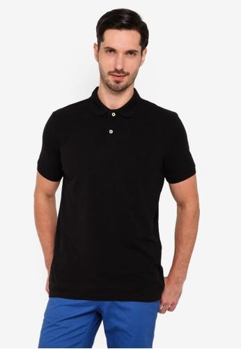 OVS 黑色 基本Polo 襯衫 26311AAD0A8668GS_1