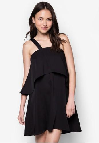 Lozalora 台灣ve 層疊肩帶連身裙, 服飾, 洋裝