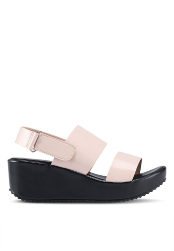 Nose 粉紅色 雙帶楔型涼鞋 879FESHF1DA568GS_1