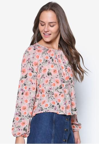 Long Sleeve Floral Blouesprit台灣門市se, 韓系時尚, 梳妝