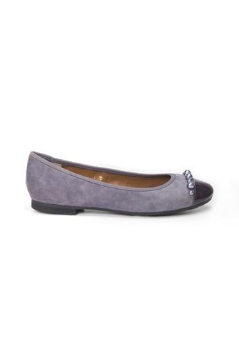 Shu Talk purple LeccaLecca Romantic Suede & Patent Leather Flats B71D4SH06A9B58GS_1