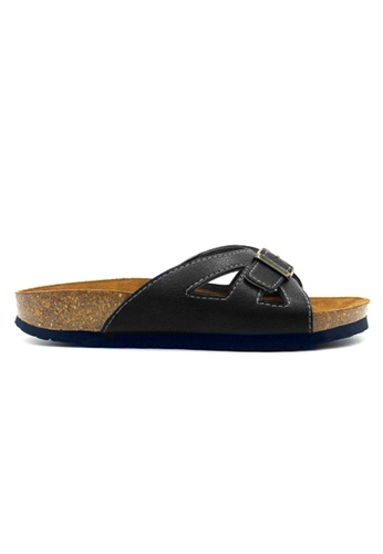 e6f416b74557 SoleSimple black SoleSimple Udine - Black   Casual Soft Footbed Flat  Slippers 292D7SH2D59843GS 1
