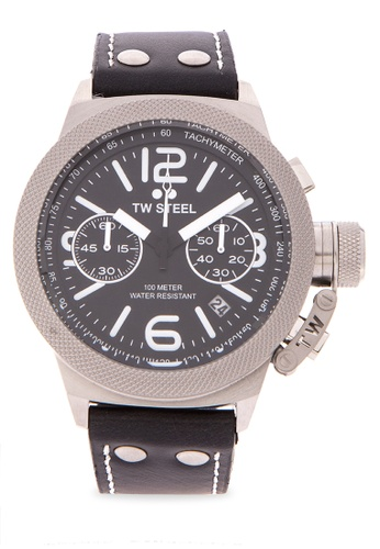 TW Steel brown CS3 Canteen Strap Analog Watch TW310AC0KMBLPH_1