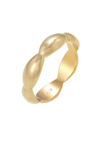 Elli Germany gold Perhiasan Wanita Perak Asli - Silver Cincin Band Ring Geo Basic Minimalist Gold Plated C6D73ACB50201FGS_1