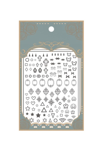 Pretty2u black Icon Art Ultra Thin Nail Sticker 995D7BE75F5B97GS_1