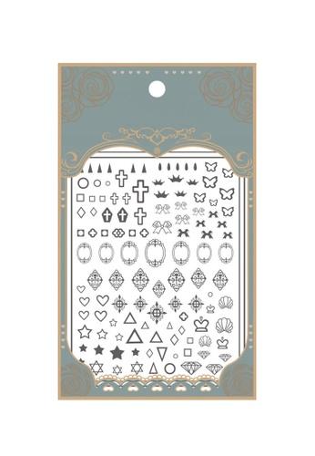 Pretty2u black Icon Art Ultra Thin Nail Sticker 995D7BE75F5B97GS_1