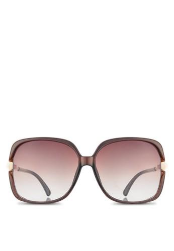 NUVEAU 金屬飾鏡腿方框太陽眼鏡esprit au, 飾品配件, 長框