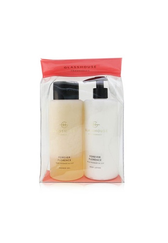Glasshouse GLASSHOUSE - Forever Florence (Wild Peonies & Lily) Body Duo : Shower Gel + Body Lotion 2x400ml/13.52oz D2CA5BE1263E1DGS_1