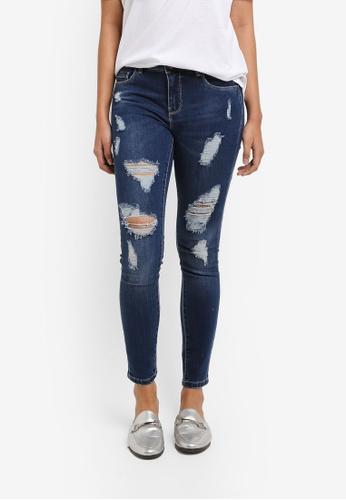 ONLY blue Carmen Ankle Destroy Skinny Jeans 0B5D8AAD159B21GS_1