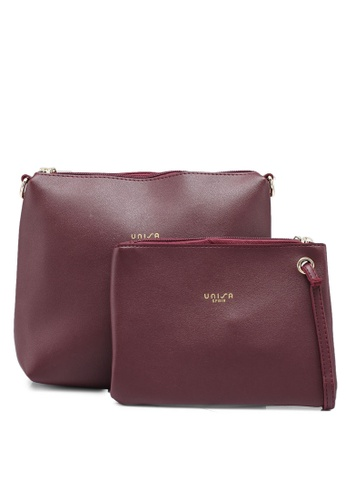 e2460671c3 Faux Leather Sling Bag With Wristlet