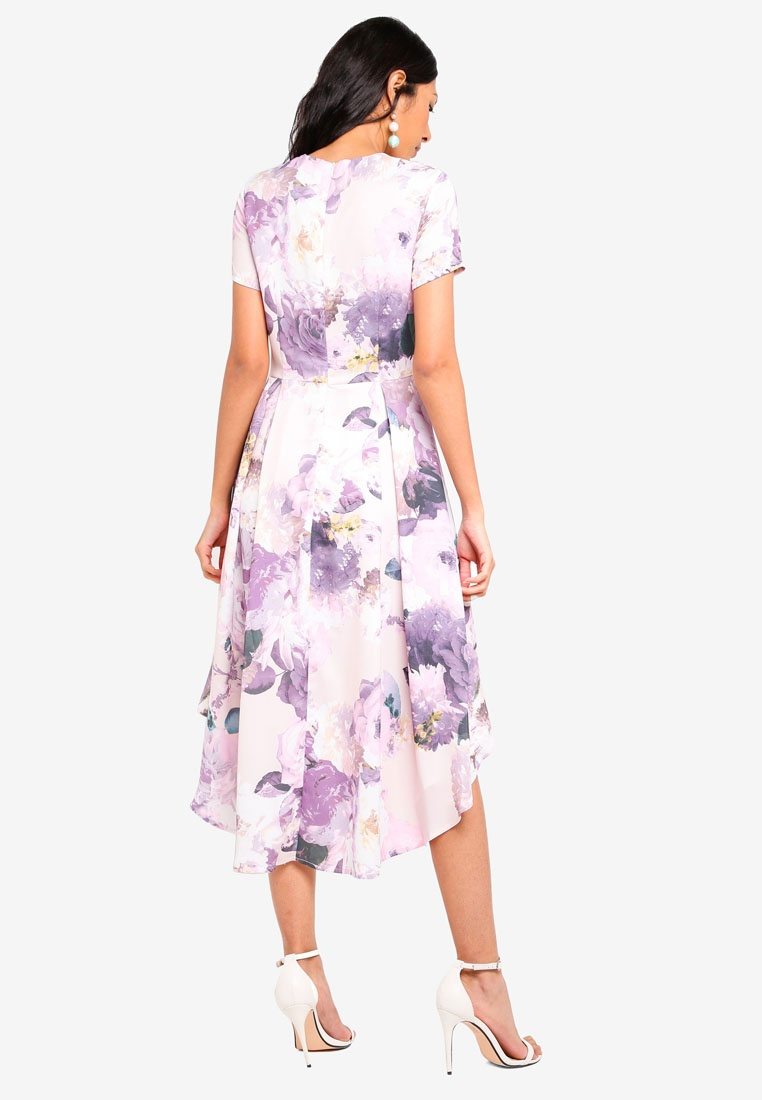 Dress Floral Flare MDSCollections Blush Masha In Floral Blush H1n5nTqw
