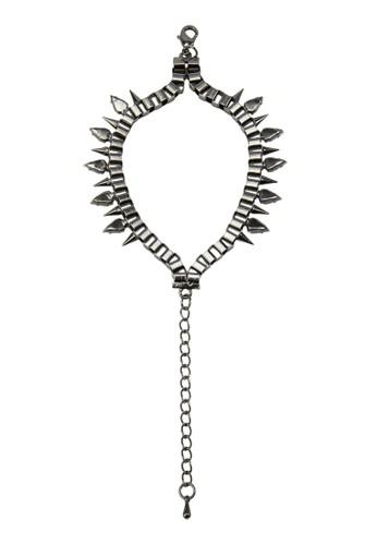 尖釘墜zalora 心得鏈手鍊, 飾品配件, 手鐲 & 手環