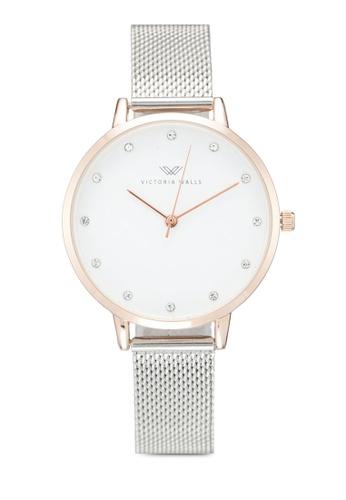 Victoria Walls Watches silver Designer Watch-Elegant Milanese Mesh Strap 1F9B2AC8F978D6GS_1