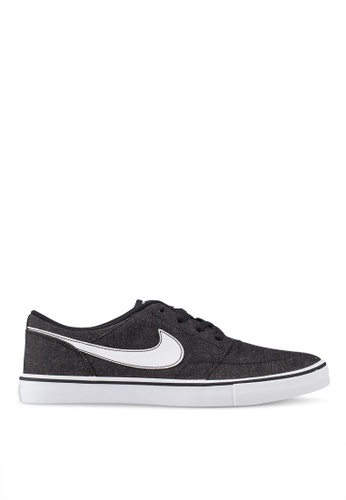 Nike black Men's Nike Sb Solarsoft Portmore Ii Canvas Premium Skateboarding Shoes EF04CSH6442A24GS_1