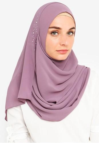 Najjah purple Naira Instant Shawl 756F4AA27AE882GS_1
