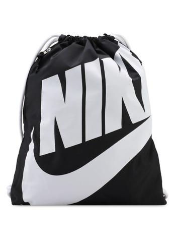114d50b6a0f55 Nike black Unisex Nike Heritage Gym Sack Bag 665E7ACC0ED867GS 1