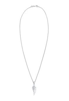 施華洛世奇水晶翅膀 925 純銀項鍊
