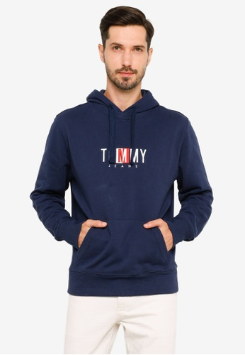 Tommy Hilfiger navy Timeless Tommy Hoodie 2 - Tommy Jeans 977A1AA4234D1DGS_1
