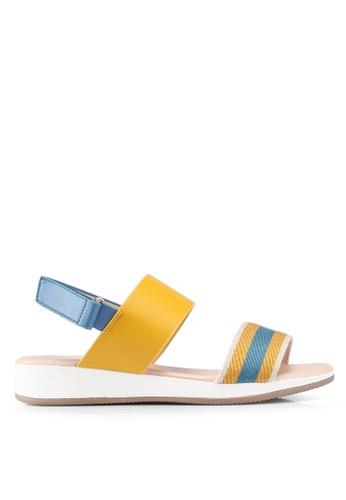 Nose 黃色 條紋涼鞋 7A946SHEB19B0FGS_1