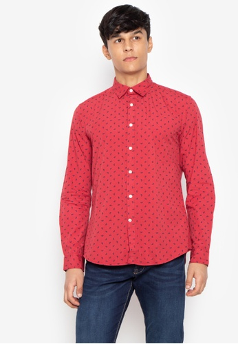 b0511d111ec Shop Cortefiel Printed Long Sleeve Shirt Online on ZALORA Philippines