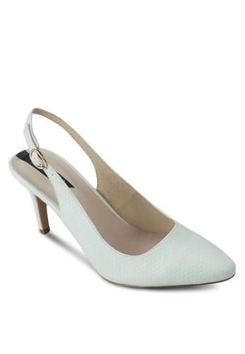 露跟踝帶尖頭高跟鞋, 女鞋zalora開箱, 厚底高跟鞋