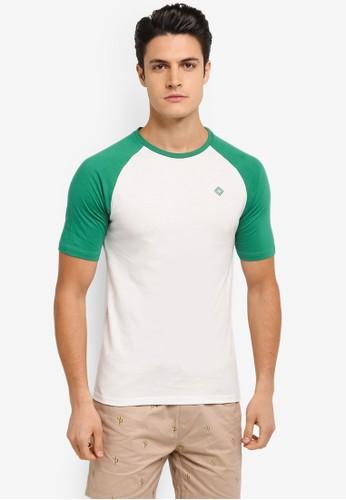 JAXON white and multi Short Sleeves Raglan Logo Tee E2C2CAAEF67206GS_1