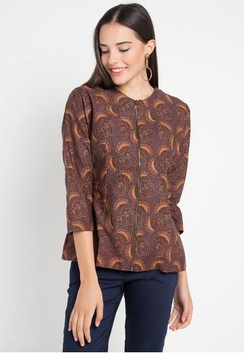 Batik Indra Loka multi Long Sleeve Blouse Kelir 46C38AAB6CF7F0GS_1
