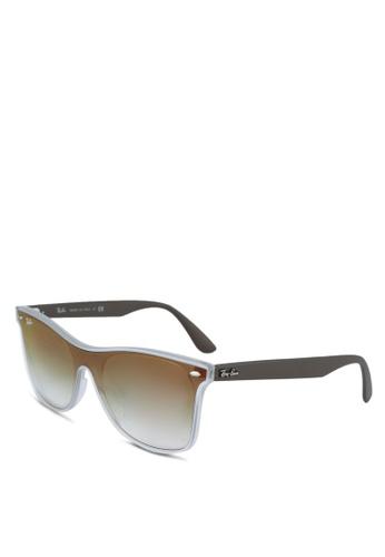 Ray-Ban 白色 RB4440NF Sunglasses D4C72GL58719B2GS_1