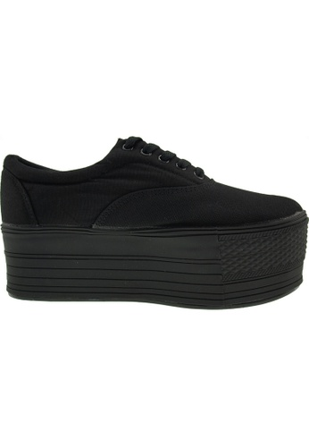 Maxstar black Maxstar Women's C60 5 Holes Platform Canvas Low Top Sneakers US Women Size MA164SH77PRISG_1