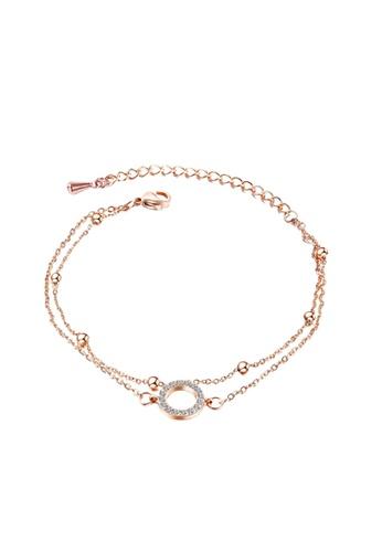 YOUNIQ YOUNIQ Ring Bubble Rosegold Slim Bracelet with Cubic Zirconia 023BBACE0EB824GS_1