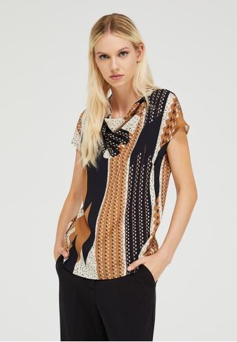 Sisley multi Printed blouse D261FAA40CBC21GS_1