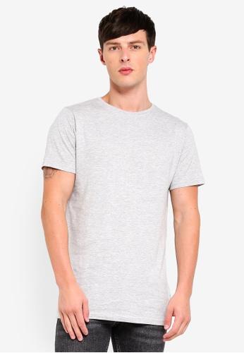 Topman grey Grey Longline T-Shirt B3CC7AADA08E12GS 1 5189b5492545