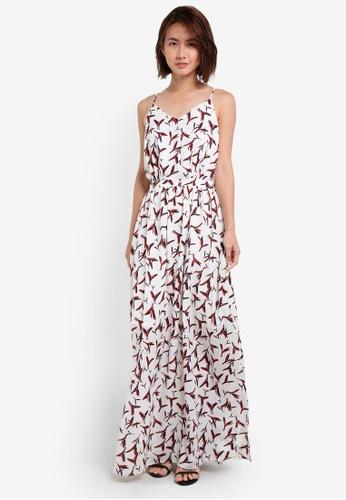 ZALORA white Spaghetti Strap Maxi Dress E6062ZZ4BD8CC9GS_1