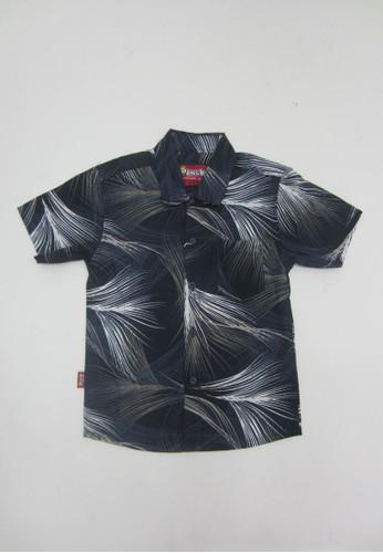 Pingu black Pingu - Kemeja Anak Laki-Laki Lengan Pendek Printing 9B21AKA37152F5GS_1