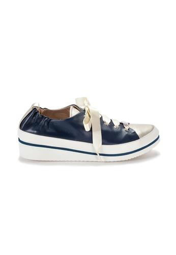 Shu Talk 藍色 XSA 意大利手工尖頭型格輕便悠閒運動鞋 094CESHFC5C8DFGS_1