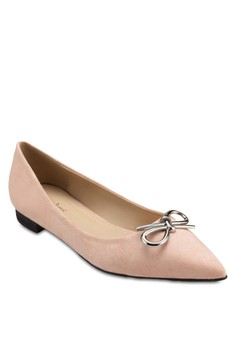 Metal Bow Pointed Flats