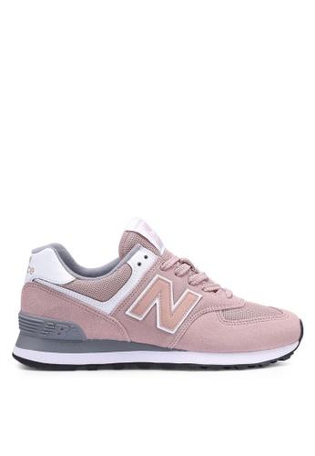 New Balance pink 574 Lifestyle Shoes 52514SH0BDF3A5GS_1