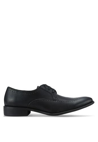 ZALORA black Essential Faux Leather Wingtip Dress Shoes 9D051AA4638E88GS_1