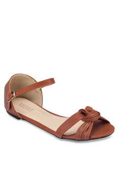 Dolly Strappy Sandal With Ribbon
