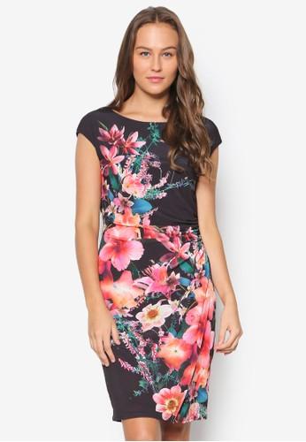 花卉zalora 手錶 評價圖案裹飾洋裝, 服飾, 洋裝