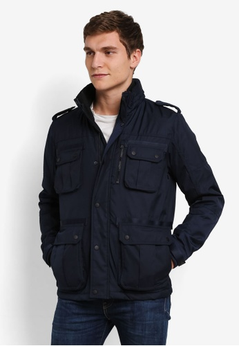 Jack & Jones blue and navy Jcocas Jacket JA987AA0S4IVMY_1