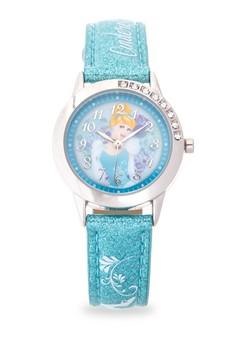Disney Princess Girls Blue Leather Strap Watch TG-3K2377U-PS-001BE