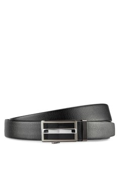 Leather Dress Belt With Automatic Buckle