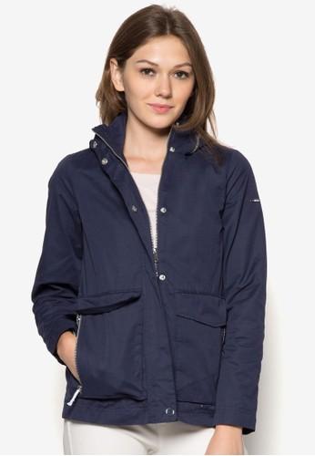 大口袋連帽外套,esprit分店 服飾, 夾克 & 大衣