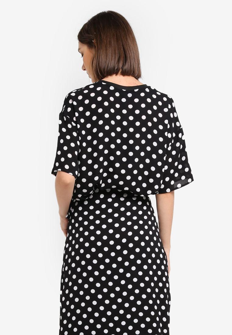 Y Polka S W Top Dots White Black A r84qgr