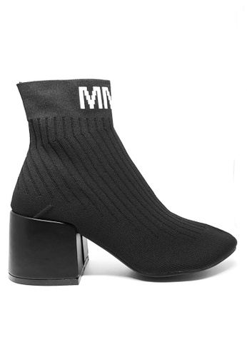 Twenty Eight Shoes black Socking Boots MM9 D9C0DSHF1FF402GS_1