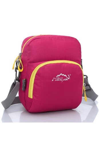 Local Lion pink Local Lion Casual Sling Bag 309 (Pink) LO780AC81XBEMY_1